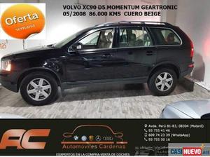 Volvo xc-90 d5 momentum geartronic 185cv cuero