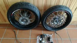 Ruedas supermotard Pirelli, llantas KTM exc 350