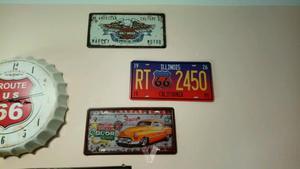 placas decoración Harley Davidson