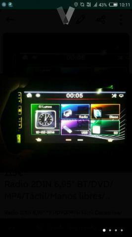 Radio DVD 2DIN 6,95 BT/DVD/MP4
