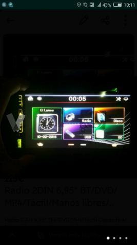 "Radio DVD 2DIN 6,95"" BT/DVD/MP4"