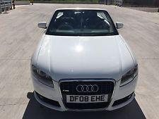 AUDI A4 CONVERTIBLE SPECIAL EDITION 2.0T 200BHP WHITE